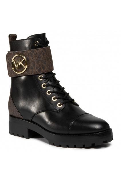 40F0TAFB6L Brown/Blk Dámská obuv Michael Kors Tatum Ankle Boot Leather černá