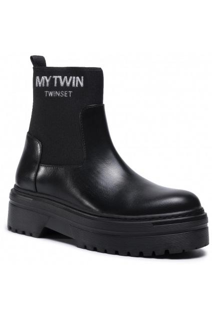 Anfibio 202MCP086 Nero 00006 Dámská obuv Twinset černá