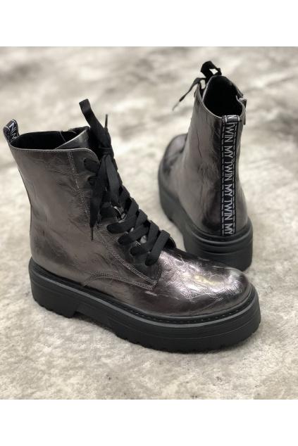 202MCP082 05299 Dámská obuv Twinset Antracit