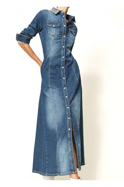 202MP2470 01611 Dámské šaty Twinset modré
