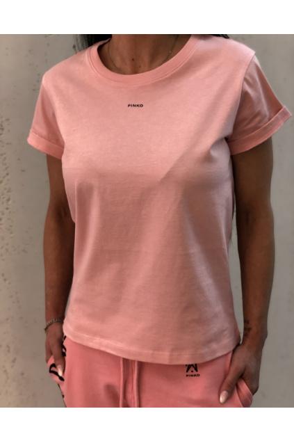 1G1649 Y4LX 053 Dámské tričko Pinko Basico lososové