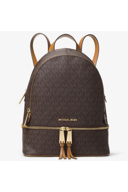 Dámský batoh Michael Kors Rhea Medium Logo hnědý