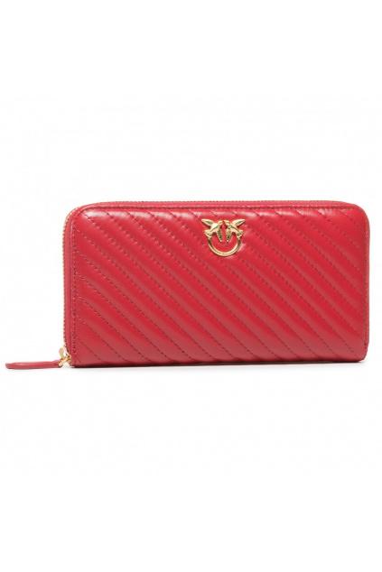 1P21UC Y6KT R72 Dámská peněženka Pinko Ryder zip Around L V černená