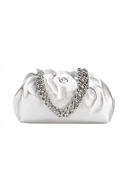 1P2253Y6ZU ZZF Dámská kabelka Pinko Mini Chain Clutch Fraimed Chain 1 stříbrná