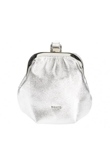 1P2254Y6ZU ZZF Dámská kabelka Pinko Soft Pouch Fraimed Chain 1 Fl stříbrná
