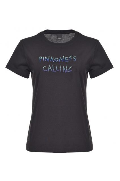 1G15YWY5BD ZE3 Dámské tričko Pinko Effimero modré