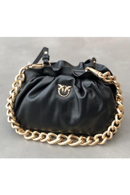 1P2236 Y6Y8 Z99 Dámská kabelka Pinko Mini Chain Clutch Fraimed Chain C černá