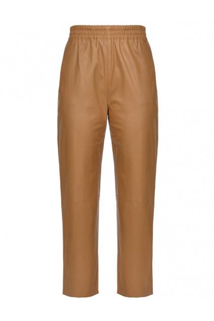 1G15WY Y638M19 Dámské Pinko kožené kalhoty Toast 2 hnědé