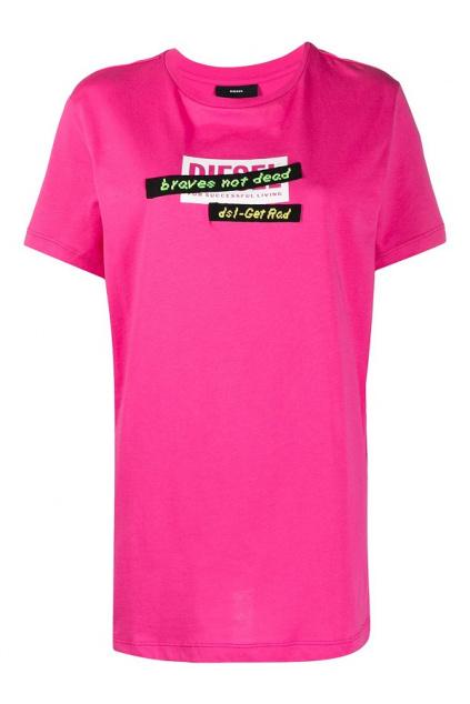 A04179 0HERA 3BG Dámské tričko Diesel T Daria R2 růžové