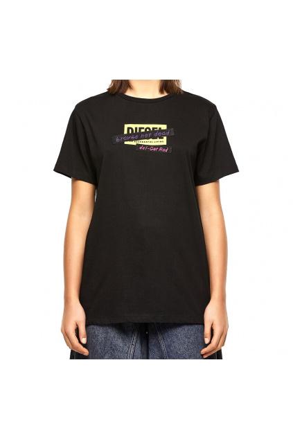 A04179 0HERA 9XX Dámské tričko Diesel T Daria R2 černé