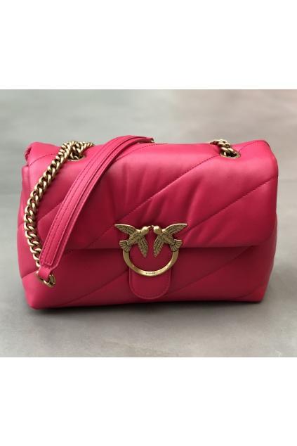 1P227J Y6Y3 096 Dámská kabelka Pinko Love Classic Puff Maxi Quilt 3 Cl purpurová