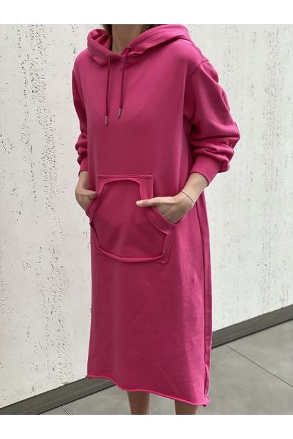 A04457 0IAJH 3BG Dámské šaty Diesel D Ilse Twist Raw Copy růžové