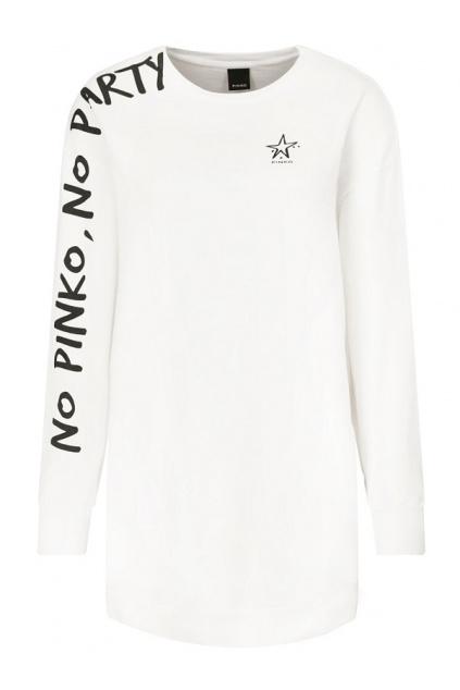 1N1346 Y7ED Z04 Dámské šaty Pinko Dizione bílé