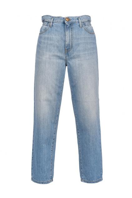 1J10LLY649 G14 Dámské džíny Pinko Flexi Maddie Mom PJ439 modré