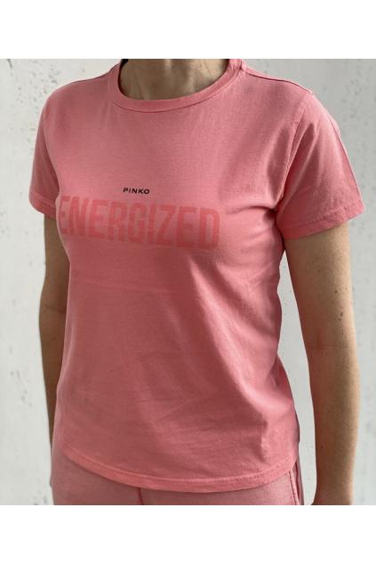 1G163C Y731 N89 Dámské tričko Pinko Neutrale oranžové