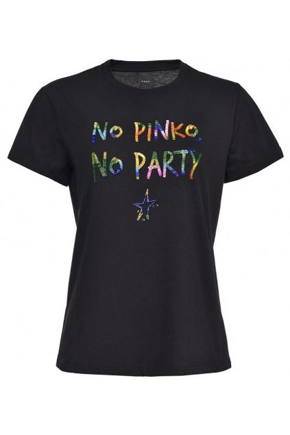 1N12XVY74W Z99 Dámské tričko Pinko Fantasia černé