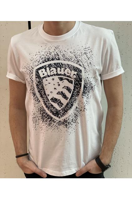 21SBLUH02134 100 Pánské tričko Blauer bílé