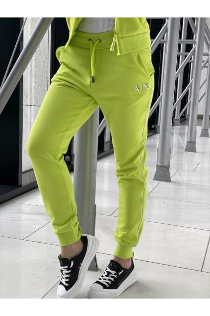 Dámské teplákové kalhoty Armani Exchange 3KYP85 YJ3NZ zelené