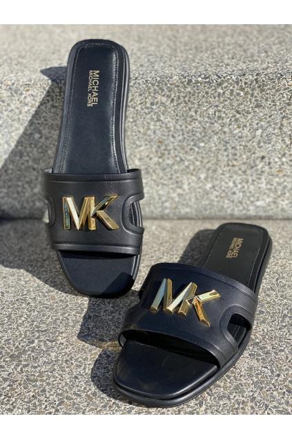 Dámské sandály Michael Kors Kippy Leather Slide černé
