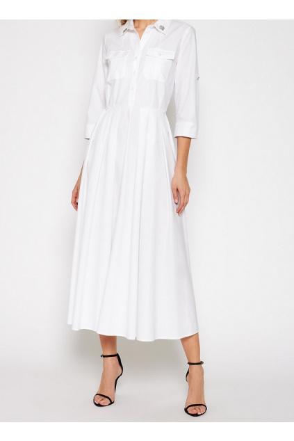 211MT2411 00006 Dámské šaty Twinset bílé