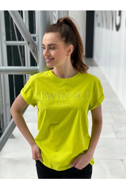 Dámské tričko Twinset 211TT2230 žluté