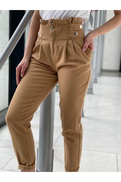 Dámské džíny Pinko New Cara 1 Fashion Carrot PJ456A béžové