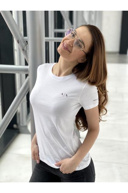 Dámské tričko Armani Exchange 3KYTHN YJ3RZ bílé