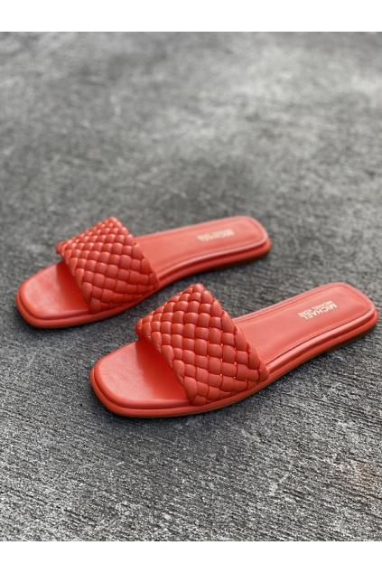 Dámské sandály Michael Kors Amelia Nappa Faux Leather oranžové 4