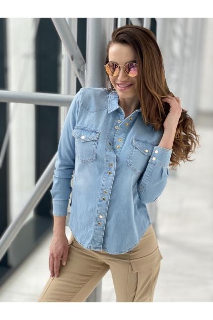 Dámská riflová košile Caroline 4 modrá