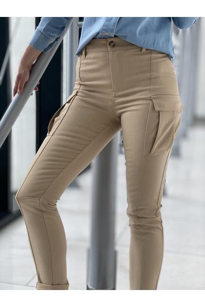 Dámské kalhoty Pinko Deluso béžové