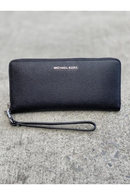 Dámská peněženka Michael Kors Jet Set Travel Continental Leather 34F9SM9E9L černá