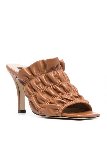 Dámské sandály Pinko Camellia Sabot hnědé