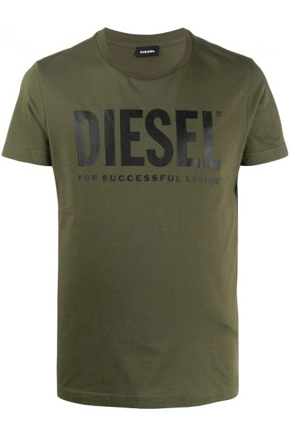 Pánské tričko Diesel T Diego Logo zelené