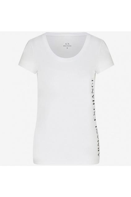 Dámské tričko Armani Exchange 3KYTGU YJW1Z bílé