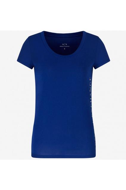 Dámské tričko Armani Exchange 3KYTGU YJW1Z modré