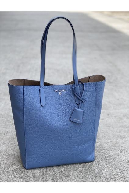 Dámská kabelka Michael Kors Sinclair Lg Shoper Tote Leather modrá