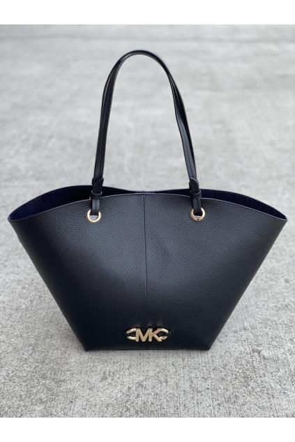 Dámská kabelka Michael Kors Izzy Medium Fan Tote Leather 30T1GZYT8L černá