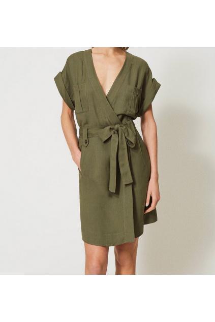 Dámské šaty Twinset 211TT2581 zelené