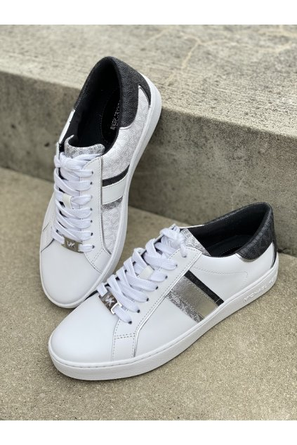 Dámské tenisky Michael Kors Keaton Leather and Two Tone Logo 43T1KTFS3L bílé