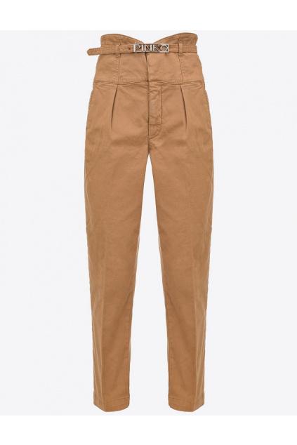 Dámské kalhoty Pinko Ariel 18 Bustier PJ543 hnědé