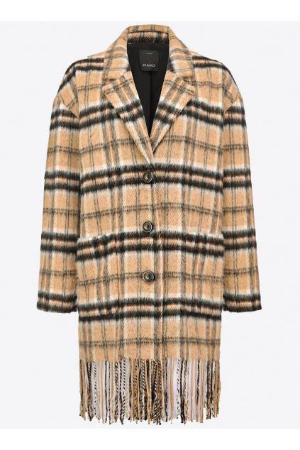Dámský kabát Pinko Parkside hnědý