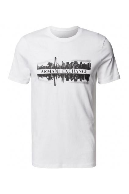 Pánské tričko Armani Exchange 6KZTAE ZJ5LZ bílé