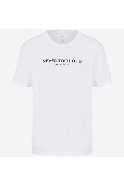 Pánské tričko Armani Exchange 6KZTBM ZJ5LZ bílé