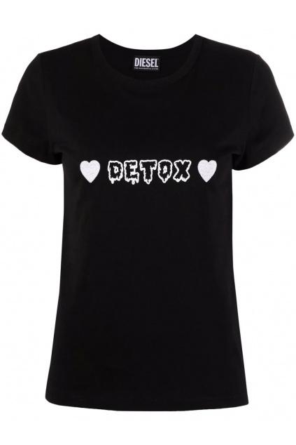Dámské tričko Diesel T Slicup černé