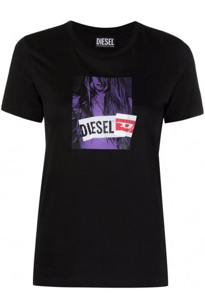 Dámské tričko Diesel T sily B3 černé