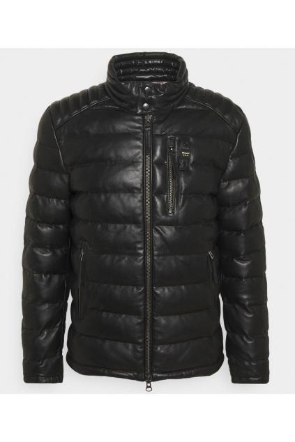 Pánkská kožená bunda Blauer 21WBLUL01183 černá
