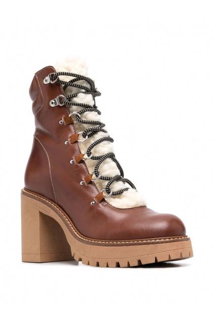 Dámské boty Pinko Sales Ankle Boot hnědé