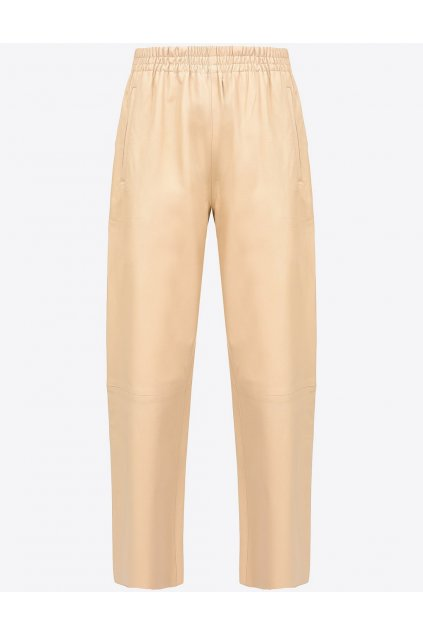 Dámské kožené kalhoty Pinko Toast 2 béžové