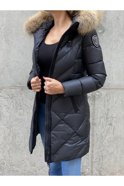 Dámská dlouhá péřová bunda Blauer 21WBLDK03043 černá