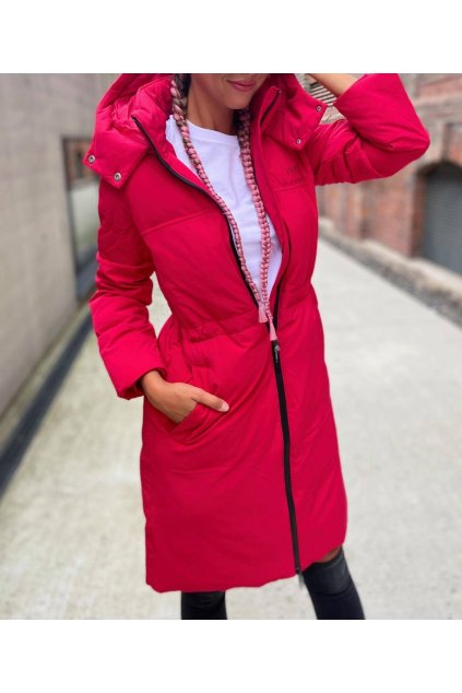 Dámský kabát Armani Exchange 6KYK11 YNTUZ červený